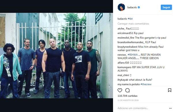 Postagem de Ludacris (Foto: Reprodução/Instagram)