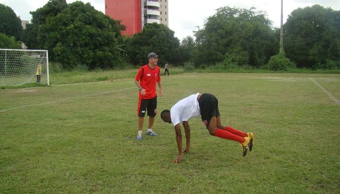 Fabinho, Marcos Paulo, Flamengo-PI (Foto: Abdias Bideh/GloboEsporte.com)