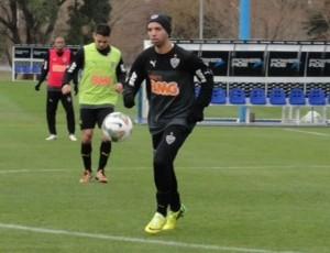 Jogadores do Atlético-MG treinam no CT da AFA (Foto: Bruno Cantini \Atlético-MG)