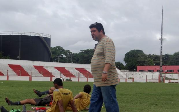 Marcos Lima Verde CRB (Foto: Viviane Leão/GLOBOESPORTE.COM)