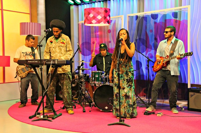 Gravação Banda do GrooVI Mistura com Rodaika SuperStar (Foto: Maicon Hinrichsen/RBS TV)