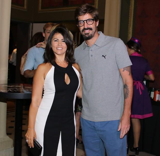 Susana Alves e Flávio Saretta  (Foto: Thiago Duran/AgNews)