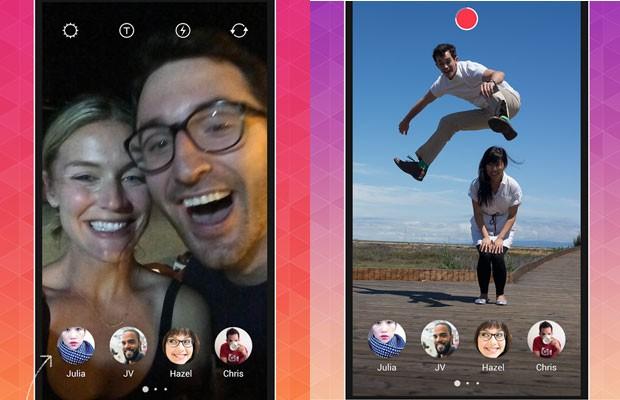 App Bolt, do Instagram, envia fotos que se apagam após serem vistas. (Foto: Divulgação/Instagram)