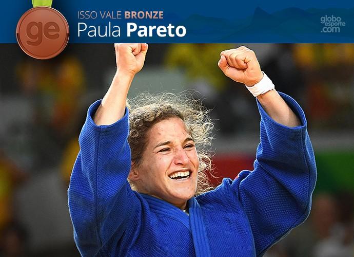 Pódio Olímpico GE - Paula Pareto - Bronze (Foto: Infoesporte)