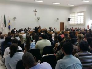 Julgamento de assassinato em Muriaé, MG (Foto: Felipe Menicucci/G1)
