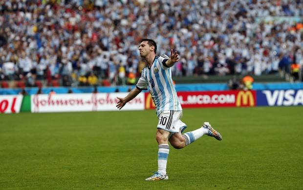 Messi Argentina x Nigéria (Foto: AP)