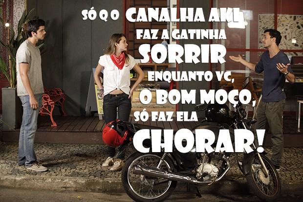 Sal é canalha mesmo, mas agora tá certo! (Foto: Malhação / TV Globo)