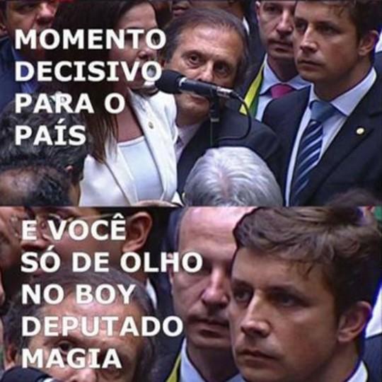 """Fabrício permaneceu no vídeo durante praticamente toda a votação no domingo (17): """"Não vi o que  estava acontecendo e não tive noção da  repercussão"""" (Foto: Reprodução)"""