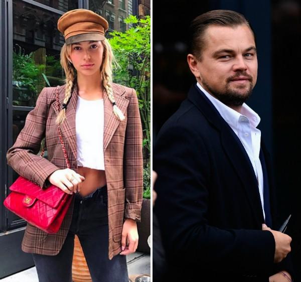 A modelo Cami Morrone e o ator Leonardo DiCaprio (Foto: Instagram/Getty Images)