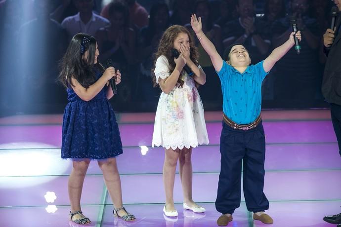Thomas Machado vence Batalha no 'The Voice Kids' (Foto: Isabella Pinheiro/Gshow)