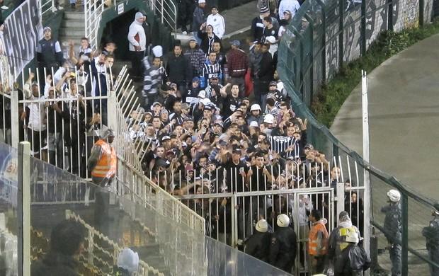 Torcida do Corinthians, Protesto (Foto: Carlos Augusto Ferrari / Globoesporte.com)