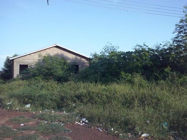 Casas populares em Barrinha (SP) deveriam ter sido entregues em dezembro de 2009 (Foto: Aline Bolina/Arquivo Pessoal)