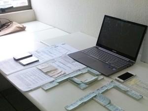 Material apreendido durante a operação (Foto: Divulgação/Receita Federal)