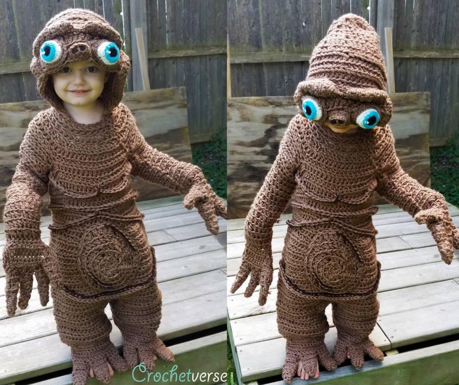 Jack fantasiado de E.T. (Foto: Reprodução Crochetverse)