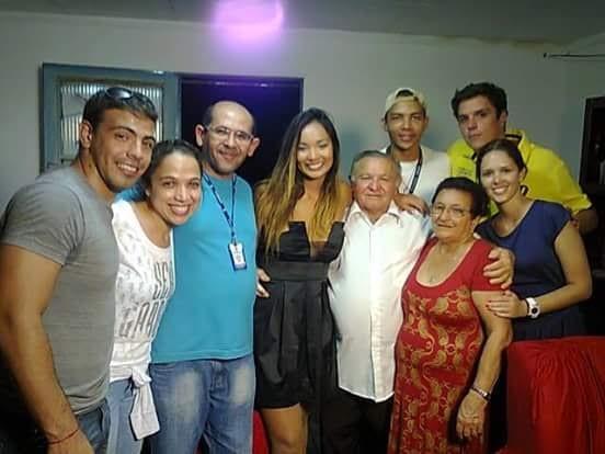 Carol Nakamura esteve em Petrolina para gravar o 'Giro Domingão' (Foto: Arquivo Pessoal)