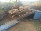 Caminhão carregado com gado  tomba em Presidente Olegário, MG