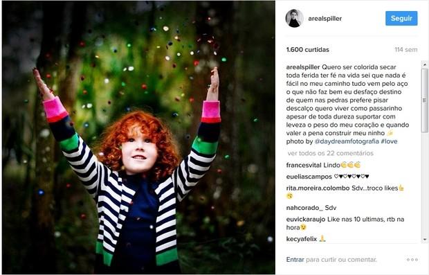 Letícia Spiller: post de 2014 traz o mesmo poema usado na legenda do clique desta quinta-feira, 9 (Foto: Reprodução/Instagram)