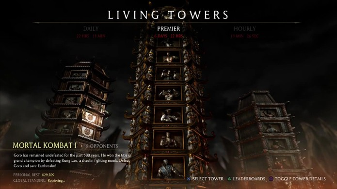 Premier Tower de Mortal Kombat X remete ao clássico Mortal Kombat 1 (Foto: Reprodução/YouTube)
