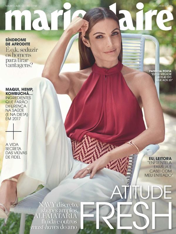 Patrícia Poeta na capa de fevereiro da Marie Claire (Foto: Bob Wolfenson / Edição de moda: Larissa Lucchese)