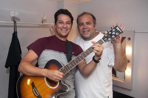 Marcelo Serrado e Otávio Muller (Foto: Rodrigo Becker)