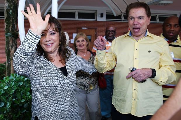 Silvio Santos com Isis Abravanel (Foto: Manuela Scarpa/ Foto Rio News)