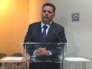 Governador de Goiás, Marconi Perillo, em Goiânia, Goiás (Foto: Paula Resende/ G1)