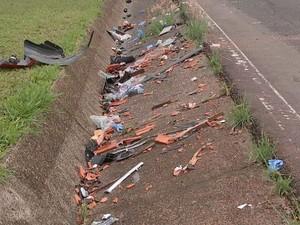 Acidente foi na Rodovia Marechal Rondon (Foto: Reprodução/TV TEM)