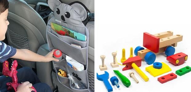 Organizador para o carro e brinquedo de madeira (Foto: Divulgação)