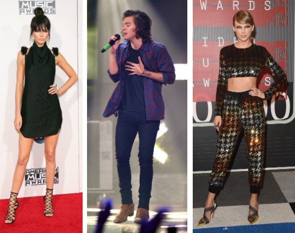 Kendall Jenner, Harry Styles e Taylor Swift (Foto: Getty Images)