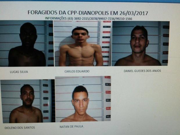 Presos fugiram da Casa de Prisão Provisória de Dianópolis (Foto: Divulgação)