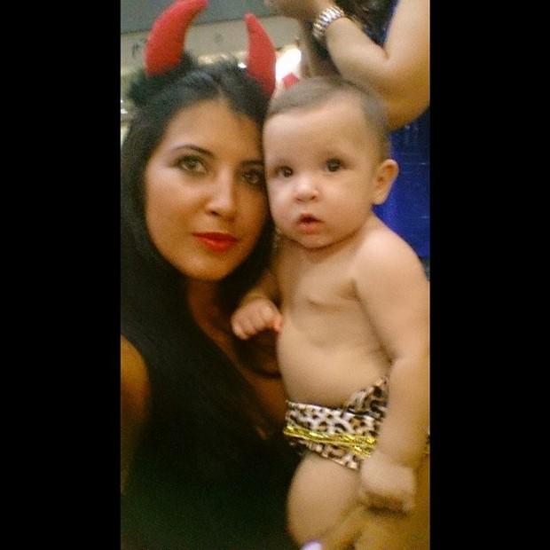 Priscila Pires com o filho Pietro (Foto: Instagram/Reprodução)