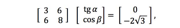 Sistema de equações (Foto: Reprodução/Fuvest)