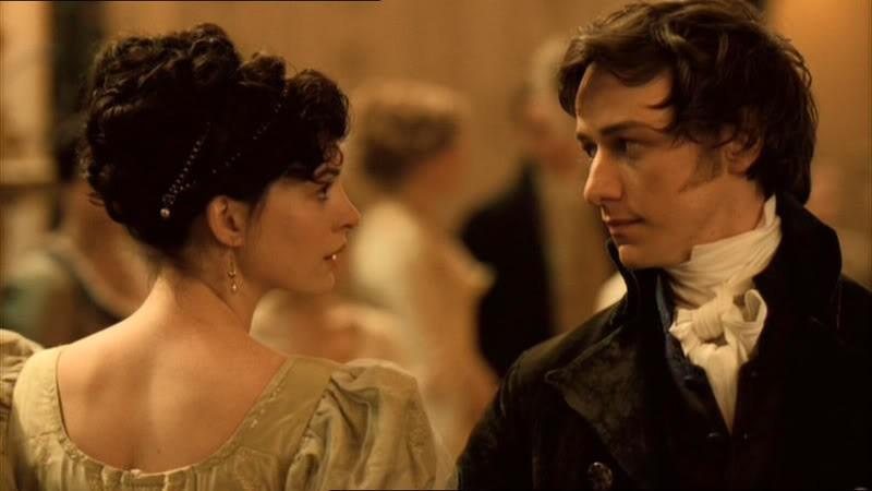 Anne Hathaway e James McAvoy como Jane Austen e Tom Lefroy em 'Amor e Inocência' (Foto: Divulgação )