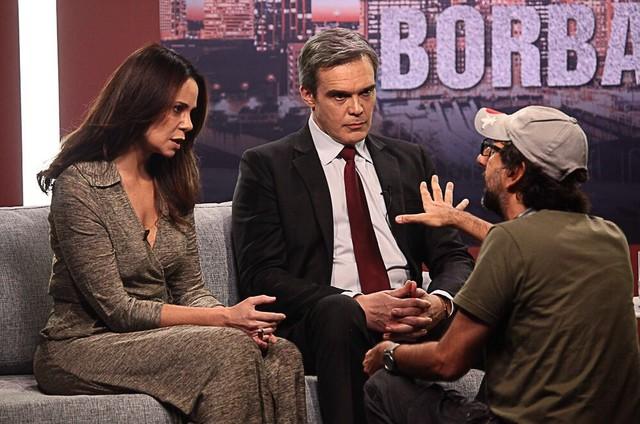 Vanessa Gerbelli e Dalton Vigh são dirigidos por Vicente Amorim em 'A Divisão' (Foto: Divulgação)