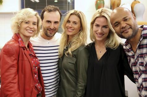 Trios de atrizes mudou o visual para 'Joia rara' (Foto: Marcelo Proença)