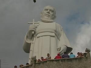 Santuário de Frei Damião em São Joaquim do Monte, Agreste de Pernambuco (Foto: Reprodução/ TV Asa Branca)
