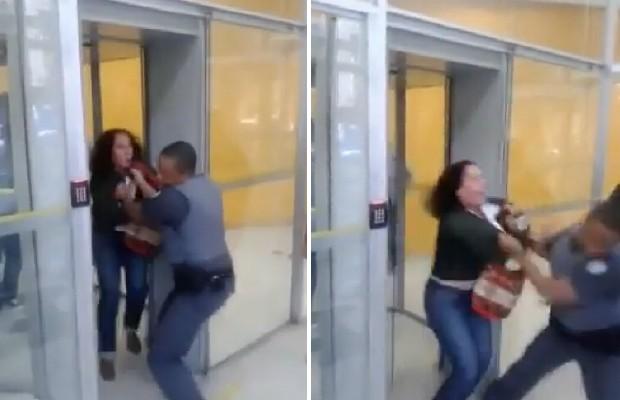 """""""Acreditei que seria socorrida"""", diz médica agredida por PM em porta giratória de banco"""