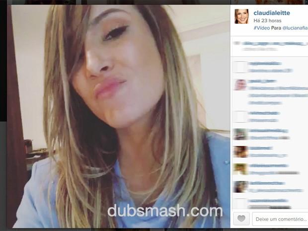 Claudia Leitte usa o aplicativo de dublagem Dubsmash (Foto: Reprodução/Instagram)