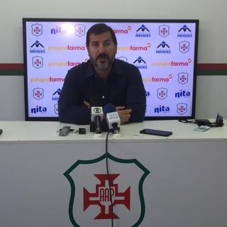 Rogério Conde, diretor de futebol da Portuguesa Santista (Foto: Gabriel dos Santos)