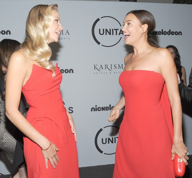 Natasha Poly e Irina Shayk (Foto: BackGrid)
