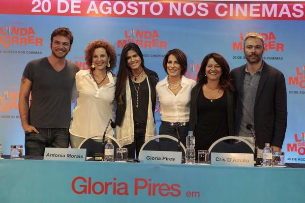 Coletiva do filme Linda de morrer (Foto: Isac Luz / EGO)