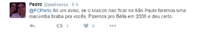 Porto Maicon São Paulo (Foto: Reprodução/Twitter)