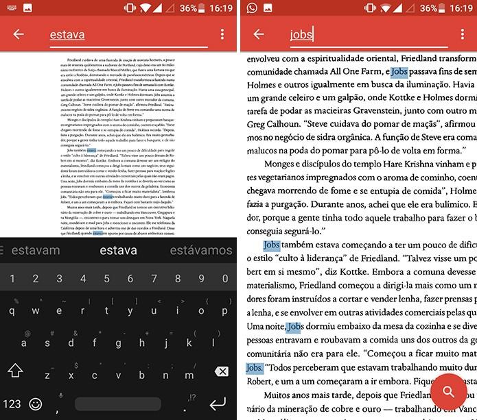 Ctrl-F mostrará palavras encontradas em página digitalizada (Foto: Reprodução/Elson de Souza