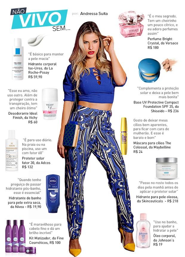 a13f049f79a8a EGO - Andressa Suita lista seus produtos de beleza favoritos ...