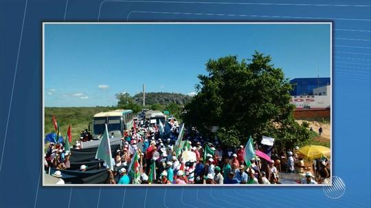 Trabalhadores rurais protestam contra Reforma da Previdência no oeste da BA