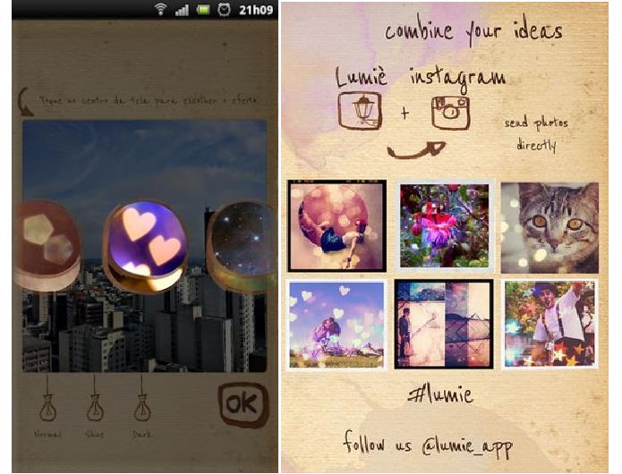 Lumiè é um app para Android e iOS que insere corações iluminados nas fotos (Foto: Divulgação/Lumiè )