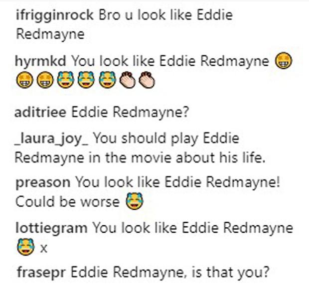 Seguidores comparam Jennifer Garner travestida de homem com Eddie Redmayne (Foto: Reprodução/Instagram)