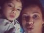 Luana Piovani ganha beijinhos e declarações fofas do filho