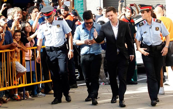 Lionel Messi barcelona corte (Foto: Agência Reuters)