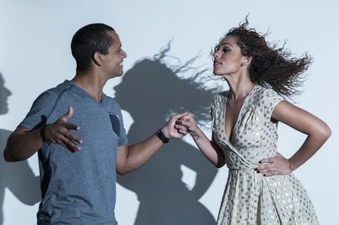 Roberta Almeida dança zouk com o parceiro Thalles Andrade (Foto: Leo Martins)